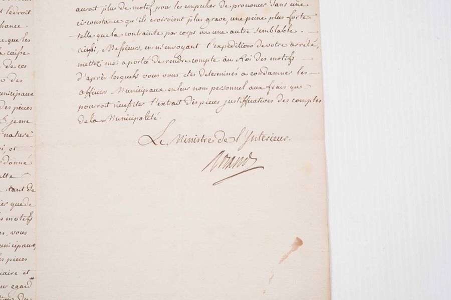 Réunion de 10 documents manuscrits ou imprimes XVIIe-XIXe  Invitation de l'intendant…