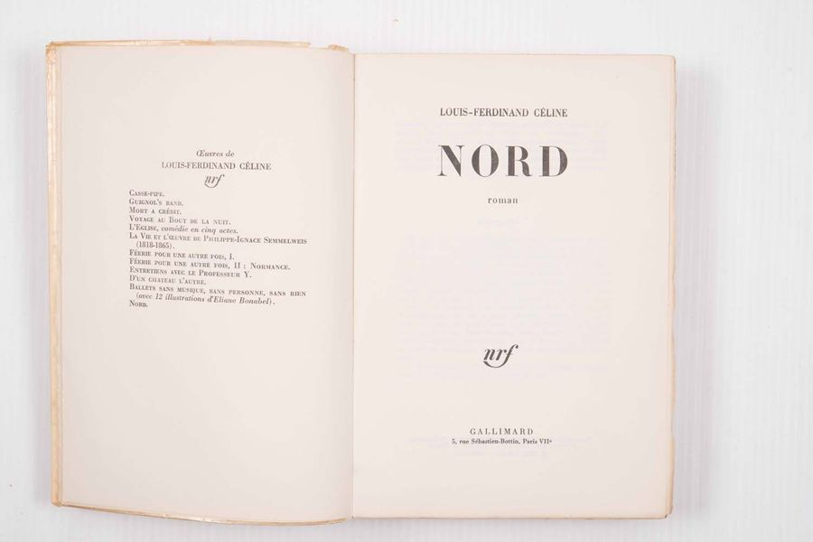 [LITTERATURE] - CELINE (Louis-Ferdinand). – Nord.