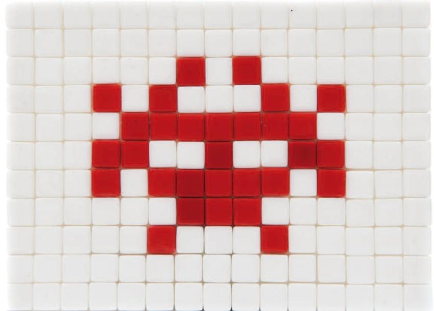 SPACE INVADER (1969) Invasion kit made in Japan #13. Numéroté sur 150. 15 x 11 c…