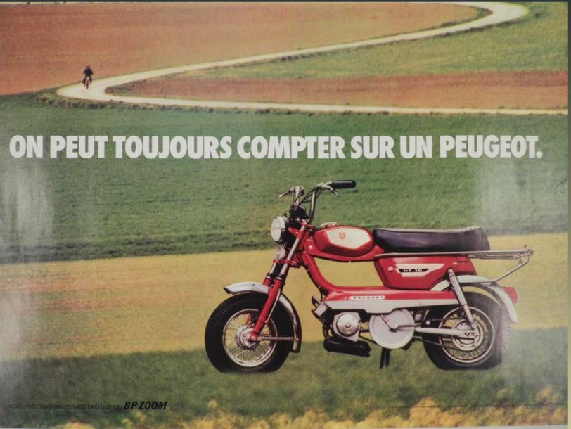 Affiche motocycle GT 10 Peugeot