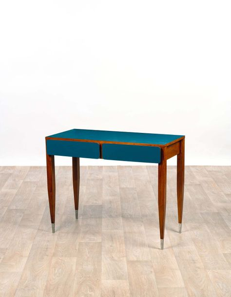 Gio PONTI (1891-1979) Console 1964 Wood and brass Edition Giordano Chiesa  H 75 x…