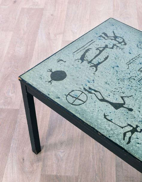 Algot TORNEMAN (1909-1993) Table basse 1958 Metal and enamel H 47,5 x L 136 x P 56…