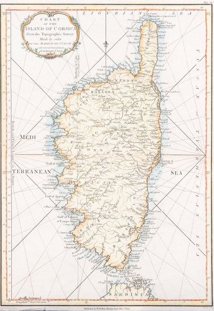 Dessiou, Josph Fos. Chart of the island of Corsica from the topographic survey made…