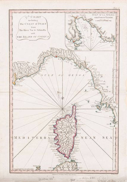 Dessiou Joseph Fos, Foot Thomas et Faden William. 17 th chart including the coast…