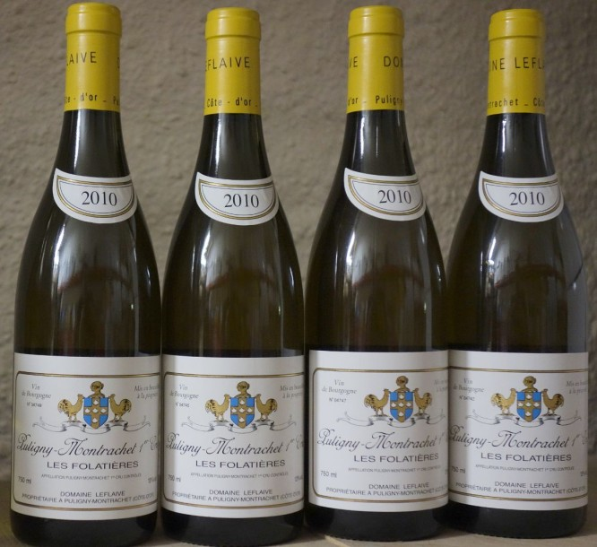"4 Bouteilles Puligny 1er Cru ""FOLATIERES"" 2010 - LEFLAIVE"