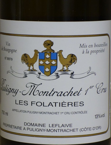 """3 Bouteilles Puligny 1er Cru """"FOLATIERES"""" 2011 - LEFLAIVE"""