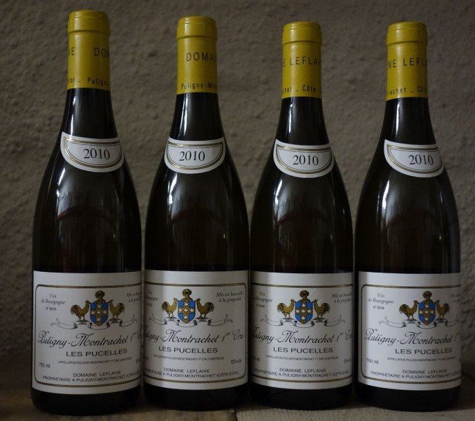 "4 Bouteilles Puligny 1er Cru ""PUCELLES"" 2010 - LEFLAIVE"