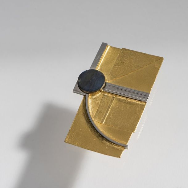 Klaus Ullrich, Brooch, 1969 Klaus Ullrich, Brooch, 1969, 21.6ct yellow gold, sta…