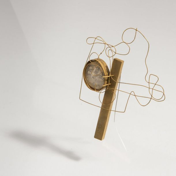 Ted Noten, Brooch, 1995 Ted Noten, Brooch, 1995, Gold, wire, cameo. 20 grams. 12…