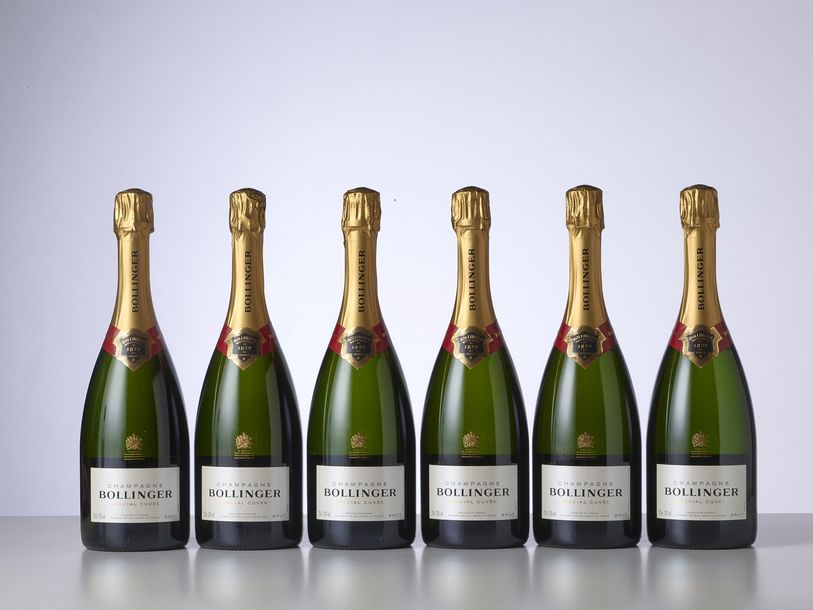 6 Bouteilles CHAMPAGNE SPECIAL CUVEE  Année : NM  Appellation : Bollinger  Condi…