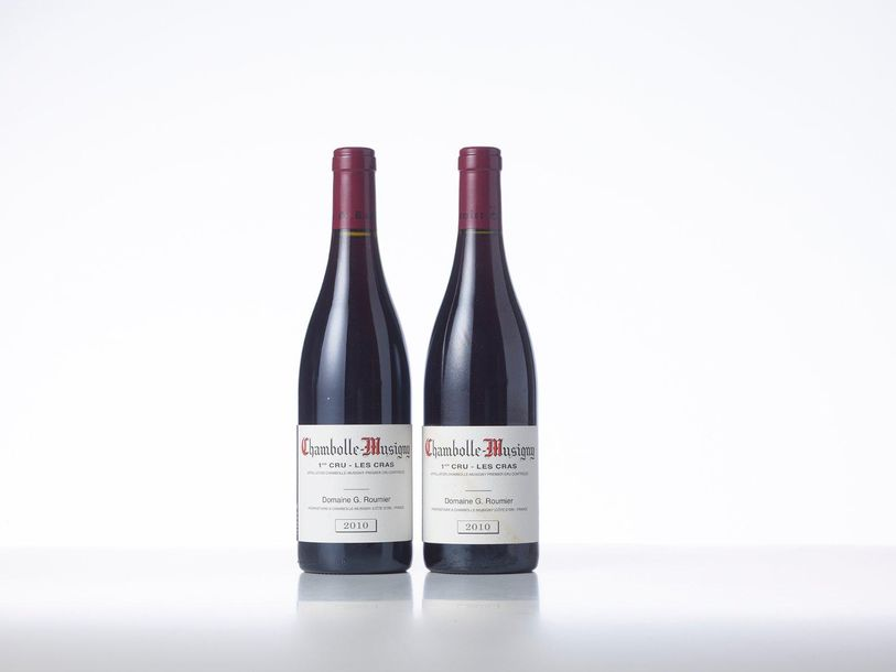 2 Bouteilles CHAMBOLLE MUSIGNY LES CRAS (1° Cru)  Année : 2010  Appellation : Do…