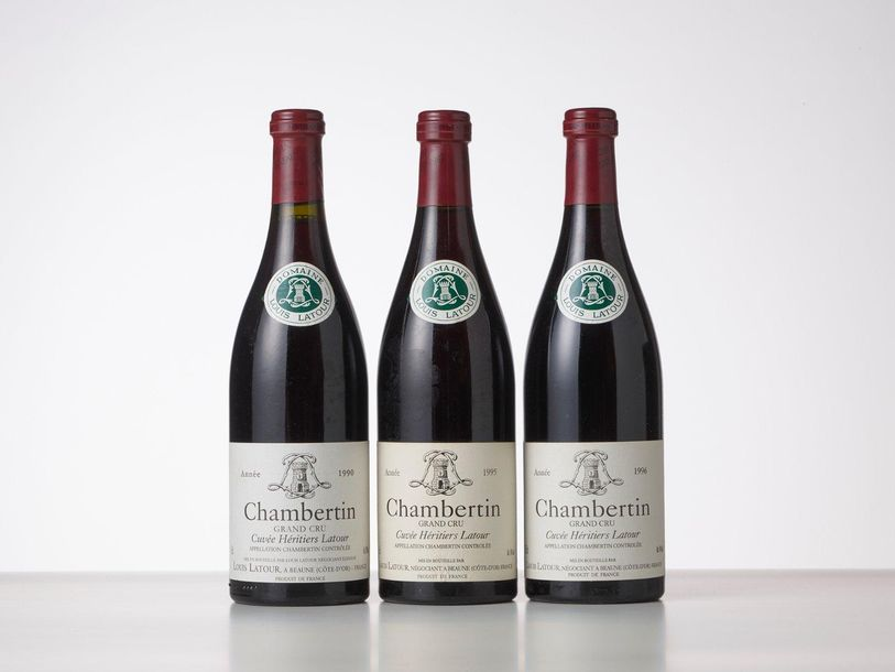 1 Bouteille CHAMBERTIN CUVEE HERITIERS LATOUR (Grand Cru)  Année : 1990  Appella…