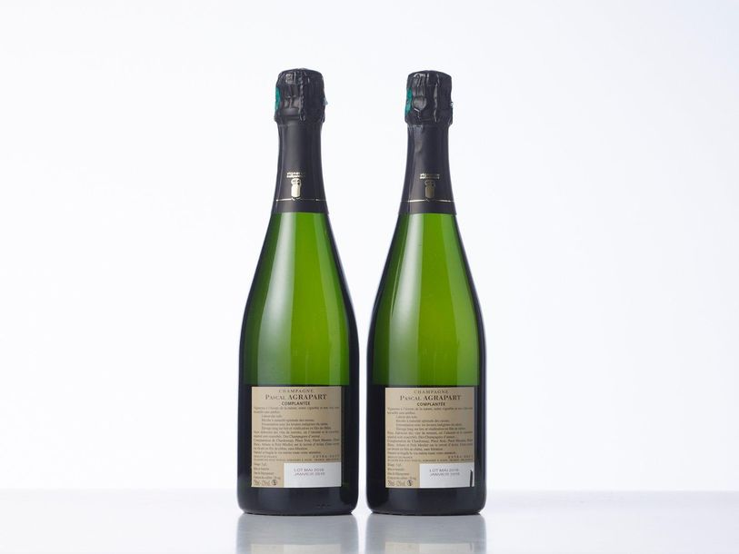 """2 Bouteilles CHAMPAGNE EXTRA BRUT GRAND CRU """"COMPLANTEE""""  Année : NM  Appellatio…"""
