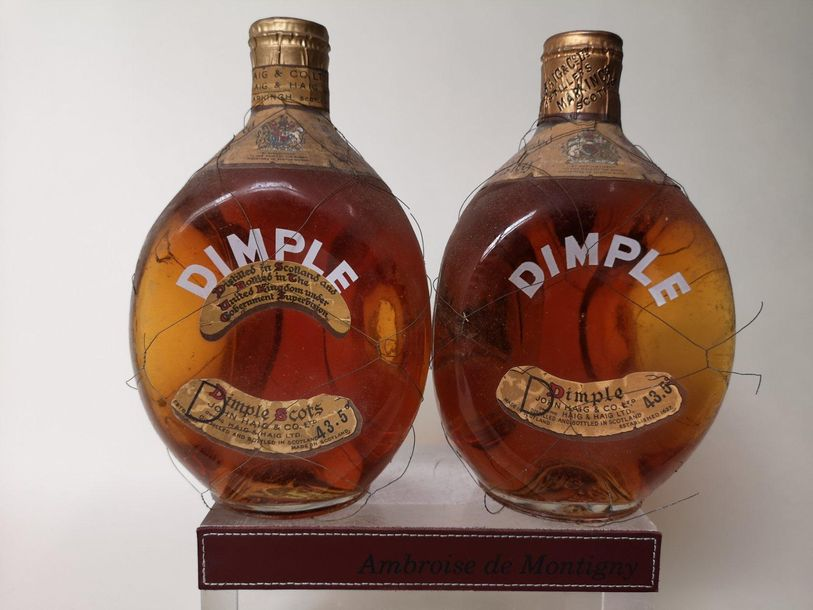 2 bouteilles WHISKY DIMPLE SCOTCH WHISKY John HIGH & Sons Années 50 60
