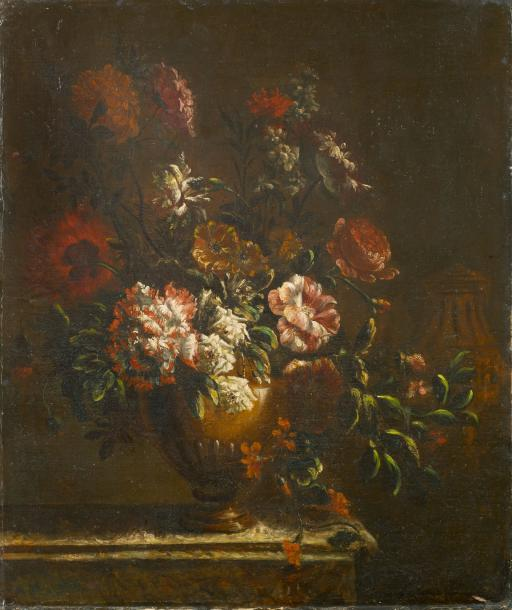 École flamande vers 1730, entourage de Pieter Casteels III Nature morte fau bouquet…