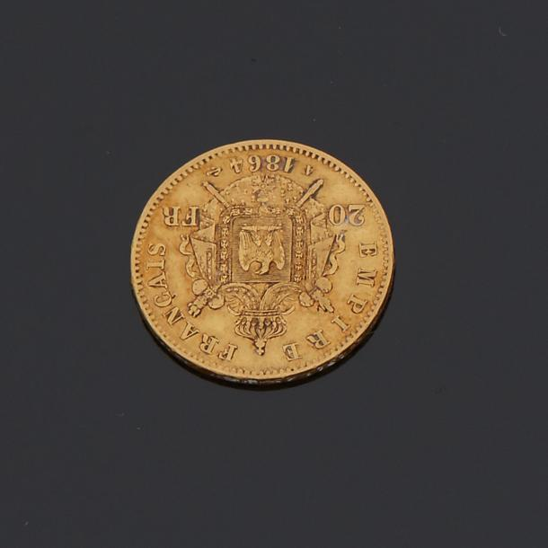 FRANCE  Pièce de 20 francs or 1864
