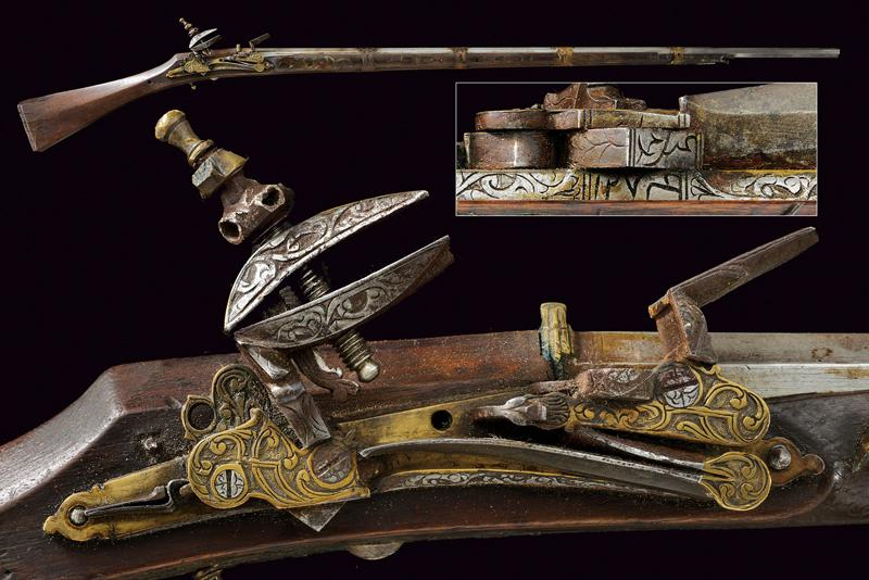 An interesting morlach flintlock gun dating: Mid 19th Century provenance: Algeri…