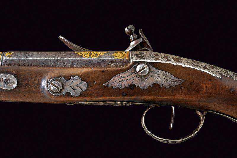 A flintlock pistol dating: 19th Century provenance: Turkey, Two stage, round and…