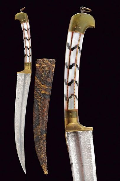 A knife dating: early 20th Century provenance: Balkans, Curved, single edged bla…