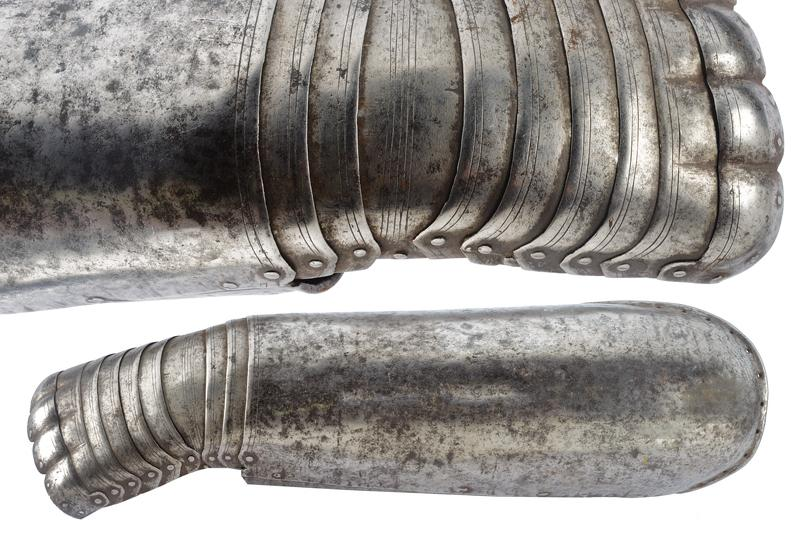 A gauntlet dating: 17th Century provenance: England, Long, vambrace cuff, in two…