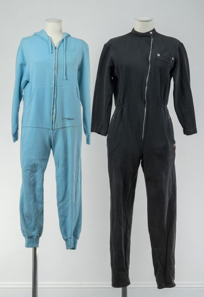 Fiorucci, Collection Prêt à Porter, circa 1980  Jumpsuit en coton strech anthracite.…