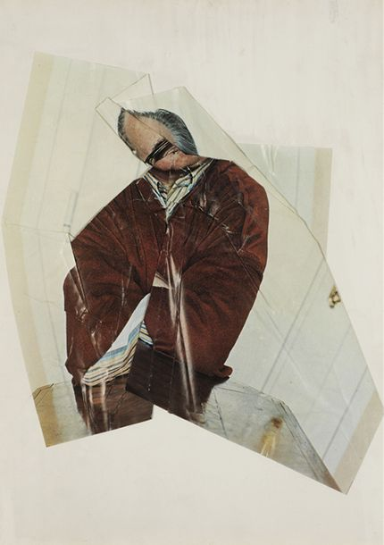 JIRI KOLAR (1914-2002) AUTOPORTRAIT - CLIN D'OEIL A GEORGE FALL, CIRCA 1979 Collage…