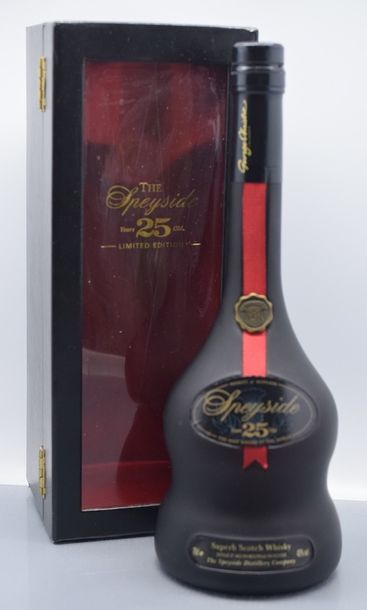 """1 bouteille SCOTCH WHISKY """"Single Malt"""", The Speyside Distillery Co 25 years (limited…"""