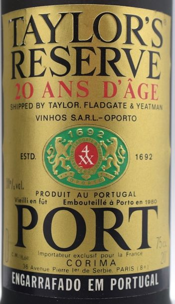 1 bouteille PORTO Taylor's 20 ans (TLB, elg)
