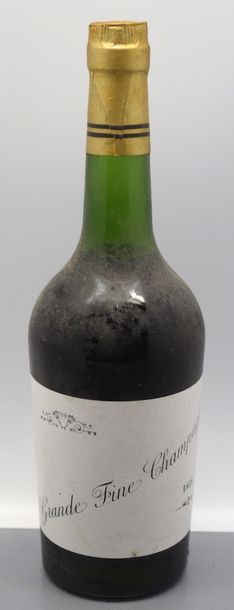"1 bouteille COGNAC ""Grande Fine Champagne"", 1858 (Mise Famille Halley, TLB)"