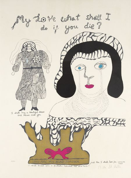 NIKI DE SAINT PHALLE (1930-2002) MY LOVE WHAT SHALL I DO IF YOU DIE ?, 1970 Planche…