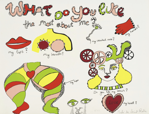 NIKI DE SAINT PHALLE (1930-2002) WHAT DO YOU LIKE THE MOST ABOUT ME?, 1970 Lithographie…