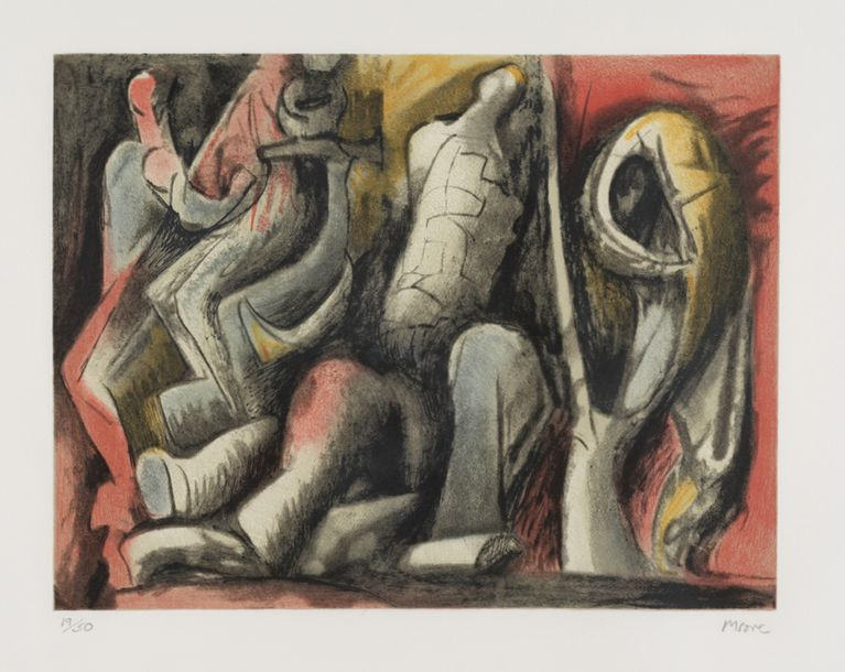 HENRY MOORE (1898-1986) FOUR IDEAS FOR SCULPTURE, 1982 (Cramer, 649) Lithographie…