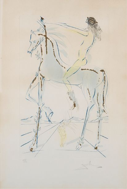 SALVADOR DALI (1904-1989) THE BELOVED IS AS FAIR AS A COMPANY OF HORSES, 1971 (Michler…