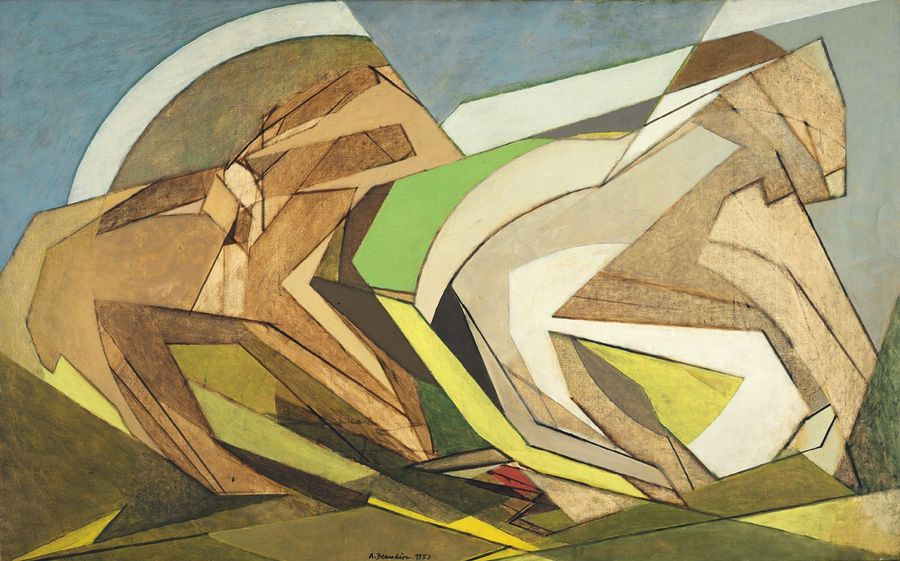 ANDRE BEAUDIN (1895-1979) * FALL, 1953 Oil on canvas Signed and dated below in the…