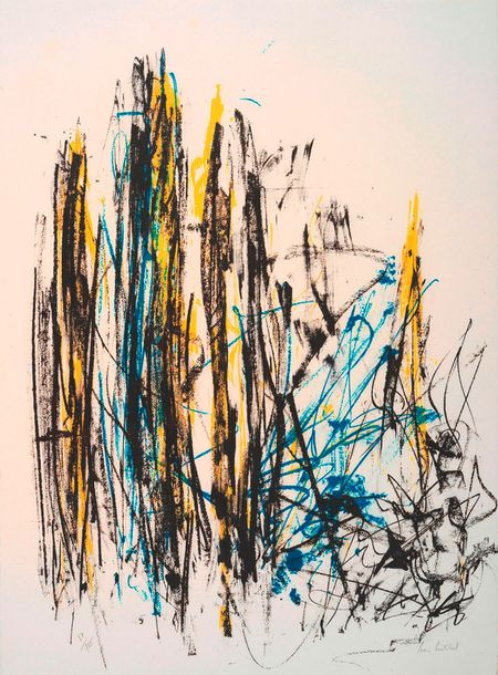 111. Joan MITCHELL (1925-1992)  ARBRES (TREES – BLACK AND RED),  1991-1992  Lithographie…