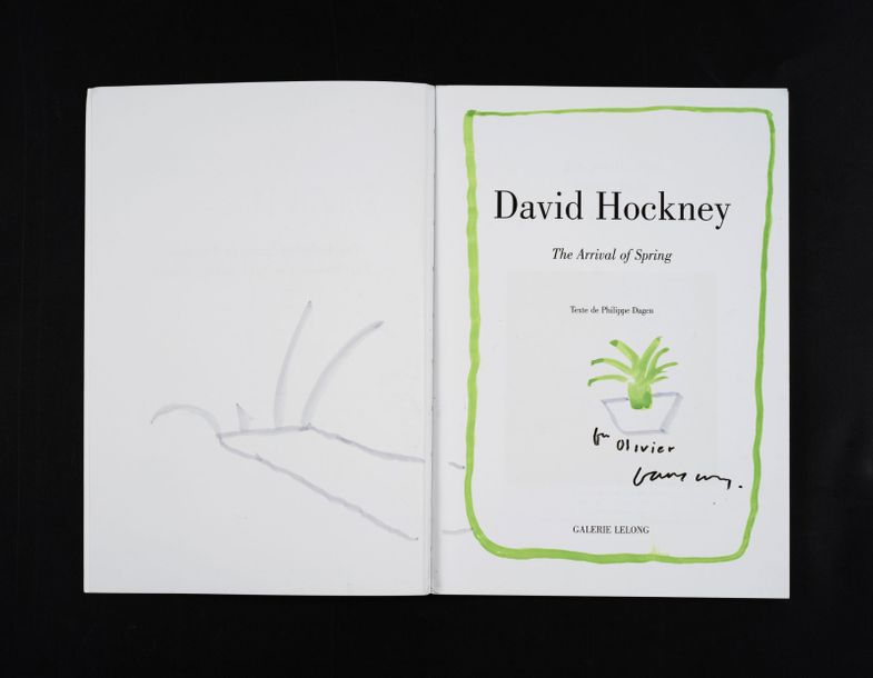 175. David HOCKNEY (Né en 1937)  THE ARRIVAL OF THE SPRING, 2015  Catalogue d'ex…