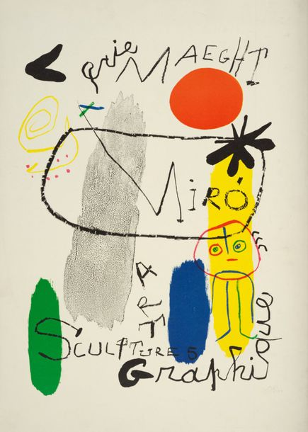 86. Joan MIRO (1893-1983)  AFFICHE D'EXPOSITION, 1950  (Maeght, 92)  Lithographie…