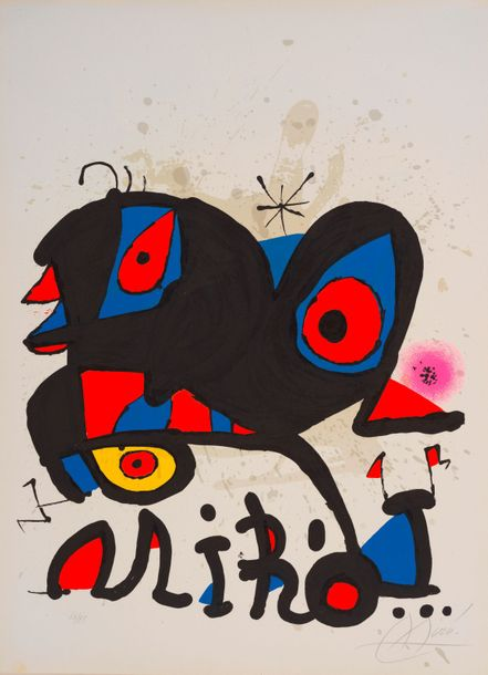 89. Joan MIRO (1893-1983)  MIRO, LOUISIANA, HUMLEBAEK (DANEMARK), 1974  (Maeght,…