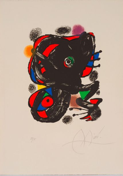 91. Joan MIRO (1893-1983)  XXe SIECLE, N°46, 1976  (Maeght, 1106 ; Cramer, 221)…
