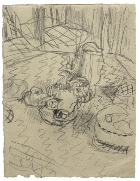 12. Pierre BONNARD (1867-1947)  LA TABLE DU DEJEUNER,  Circa 1940  Mine de plomb…