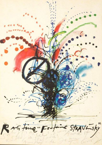 102. JEAN TINGUELY (1925-1991)  RAGTIME FONTAINE STRAVINSKY, 1984  Lithographie…