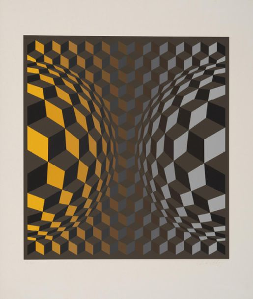 195. VICTOR VASARELY (1906-1997)  GORDES, 1971  Portfolio comprenant un ensemble…