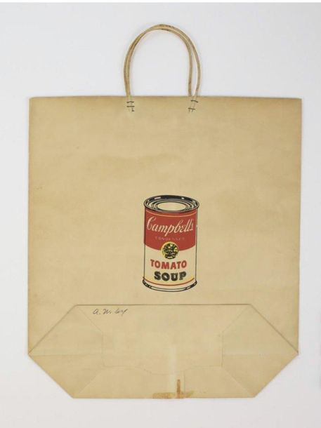 208. ANDY WARHOL (1928-1987)  CAMPBELL'S TOMATO SOUP SHOPPING BAG, 1966  (Feldman…