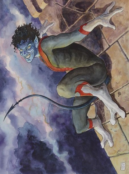 MANARA MILO Italien 1945 The Quest for Nightcrawler - Série : AMAZING X-MEN Illustration…