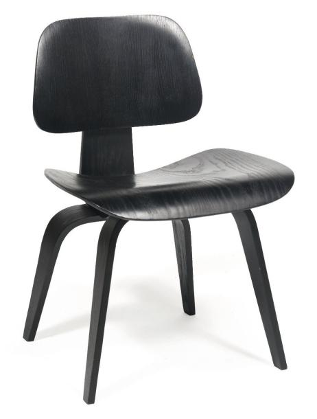 Charles et ray eames chaise dcw contreplaqu moul laqu noir assemblage - Chaise charles et ray eames ...