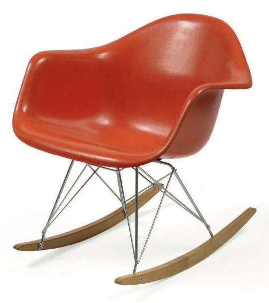 charles et ray eames rocking chair rar coque en polyester