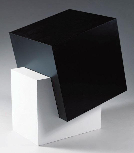 MATHIEU MERCIER (NE EN 1970) BLACK BOX IN A WHITE CUBE, 2002 Cube en medium peint…