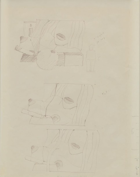 TOM WESSELMAN (1931-2004) WORKING DRAWING FOR GREAT AMERICAN NUDE #98, CIRCA 1967…