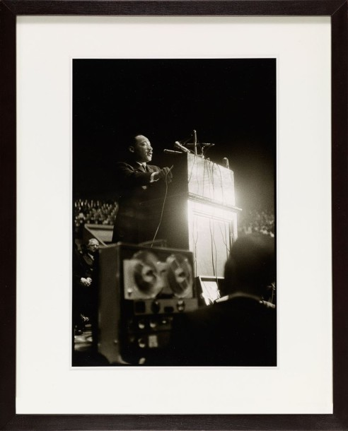SY MARCUSE (1939-2011) MARTIN LUTHER KING, COW PALACE, SAN FRANSISCO 1964 Tirage…