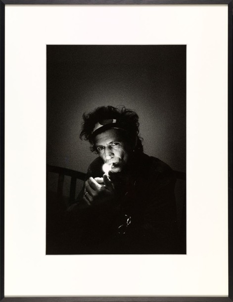 CLAUDE GASSIAN (né en 1949) KEITH RICHARDS, NEW YORK, 1992 Tirage argentique numéroté…